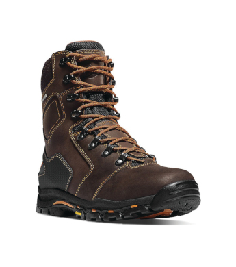 "Danner Men's 8"" Brown Vicious Waterproof Safety-Toe Work Boots ..."
