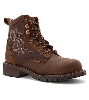 Justin Ladies' Aged Bark Gypsy Waterproof Steel Toe Work Boots ...