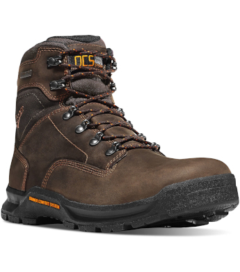 "Danner Men's 6"" Brown Crafter Waterproof Work Boots 12433 - Wilco ..."
