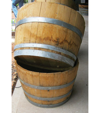 Oak Half Wine Barrel Planter Wilco Farm Stores
