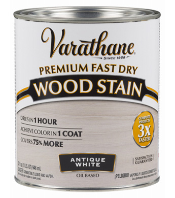 Varathane Premium Fast Dry Wood Stain Antique White 1 Qt